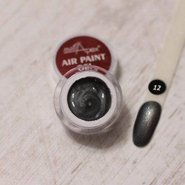 Аэропуффинг гель краска Air Paint Gel графит