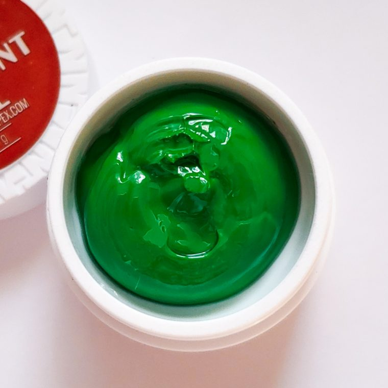 Аэропуффинг гель краска Air Paint Gel светло-зелёный