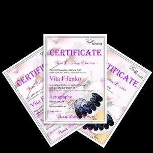 Сертификаты Аэрография ng